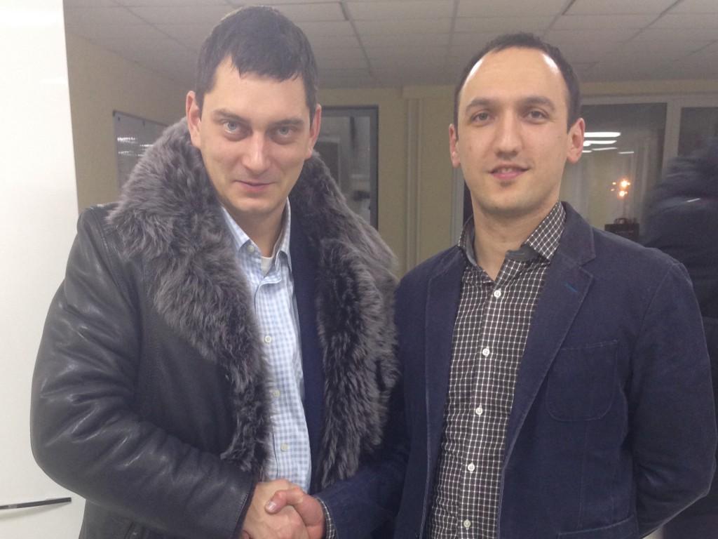 Марат Ахуньянов с Максимом Батыревым